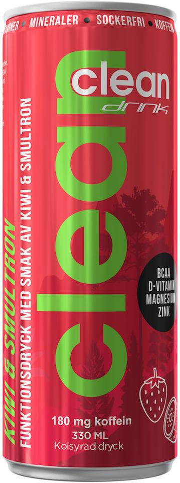 Clean Drink - Kiwi/Smultron BCAA 33cl