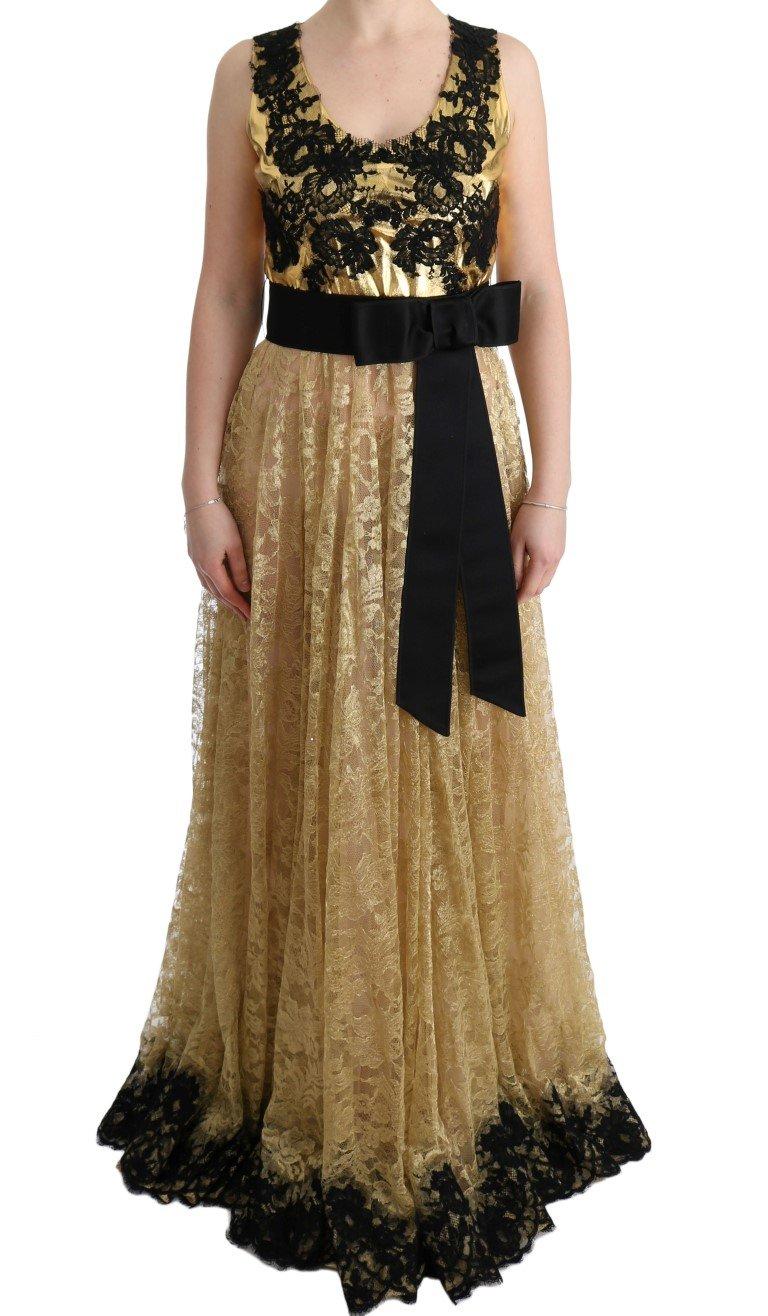 Dolce & Gabbana Women's Floral Lace Dress Yellow SIG60661 - IT42 M