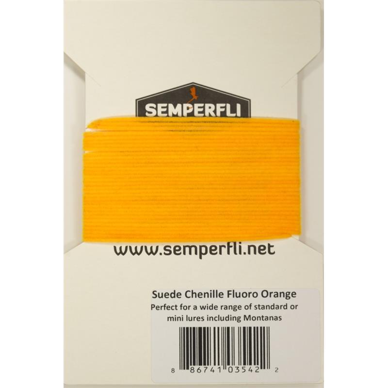 Semperfli Suede Chenille Fl. Sunburst Orange