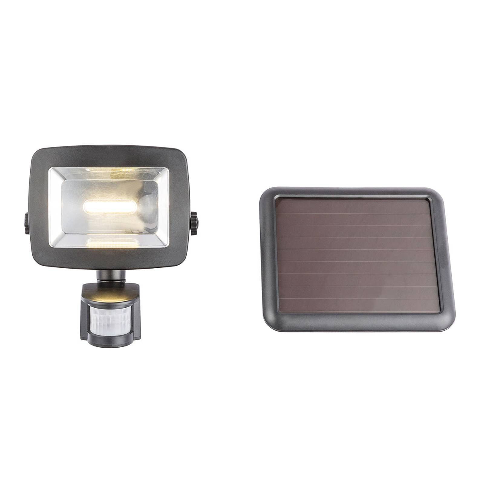 Soldrevet LED-utevegglampe 37201S sensor svart