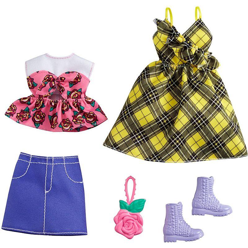 Barbie - Fashion 2-Pakke - Yellow Plaid Dress (GRC83)
