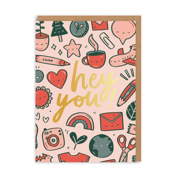 Hey You Greeting Card
