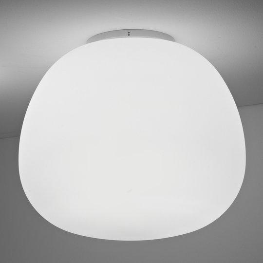 Pehmeänvalkoinen kattovalaisin MOCHI 45 cm