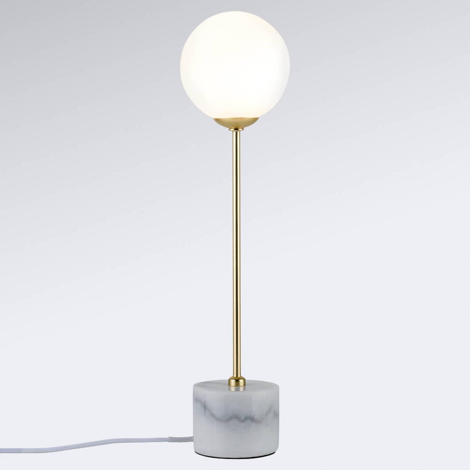 Moa - puristisk bordlampe med marmorsokkel