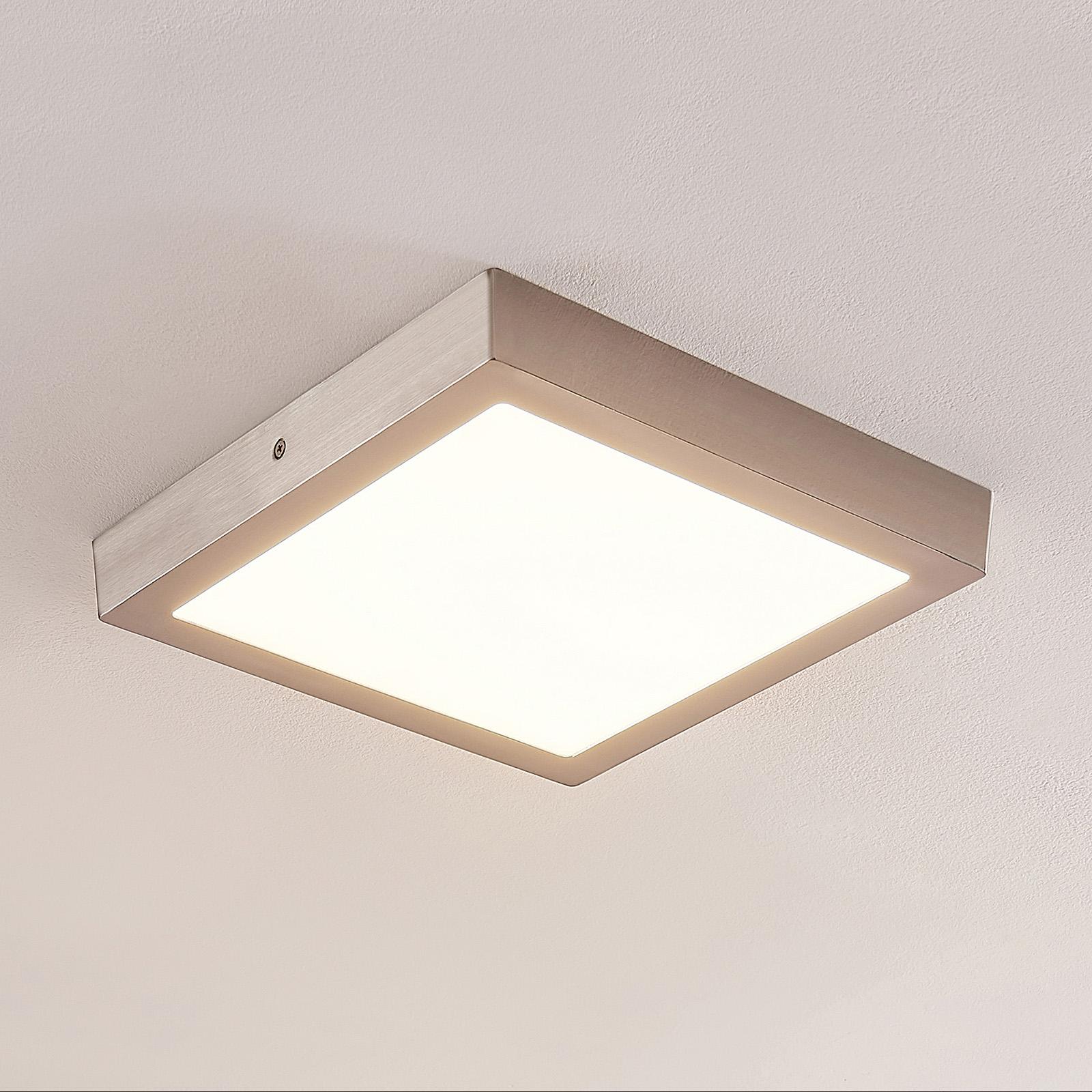 ELC Merina LED-kattovalaisin nikkeli, 30 x 30 cm