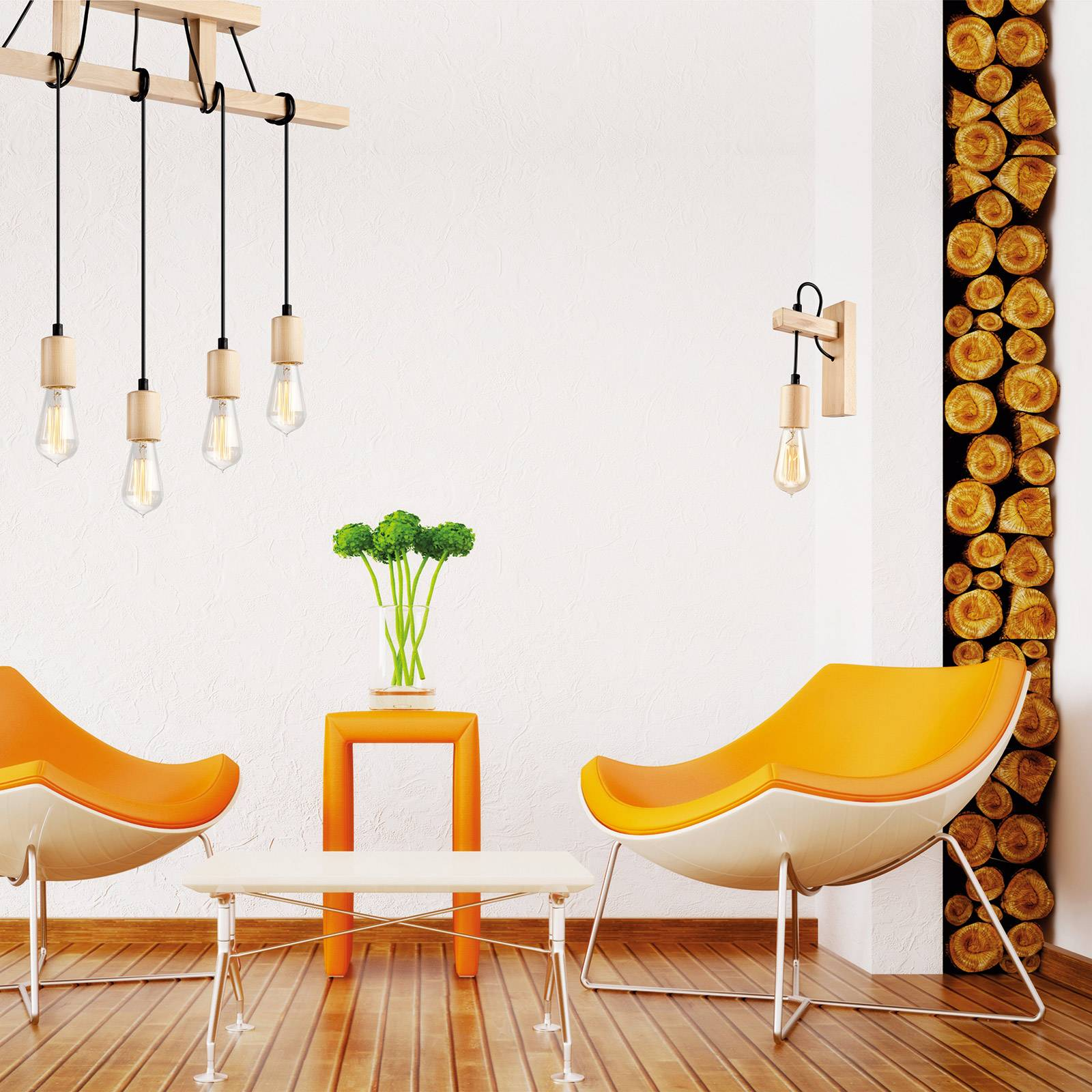 Seinälamppu Tyske puuta, oliivi