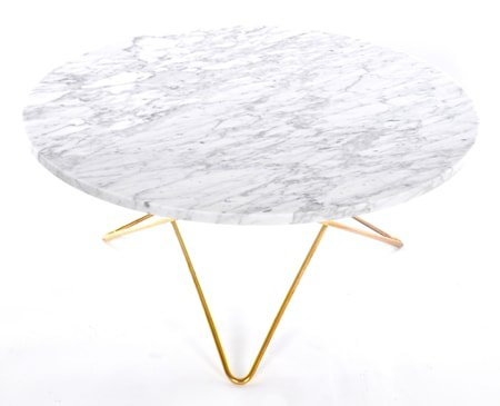 O table sofabord - marmor/messing