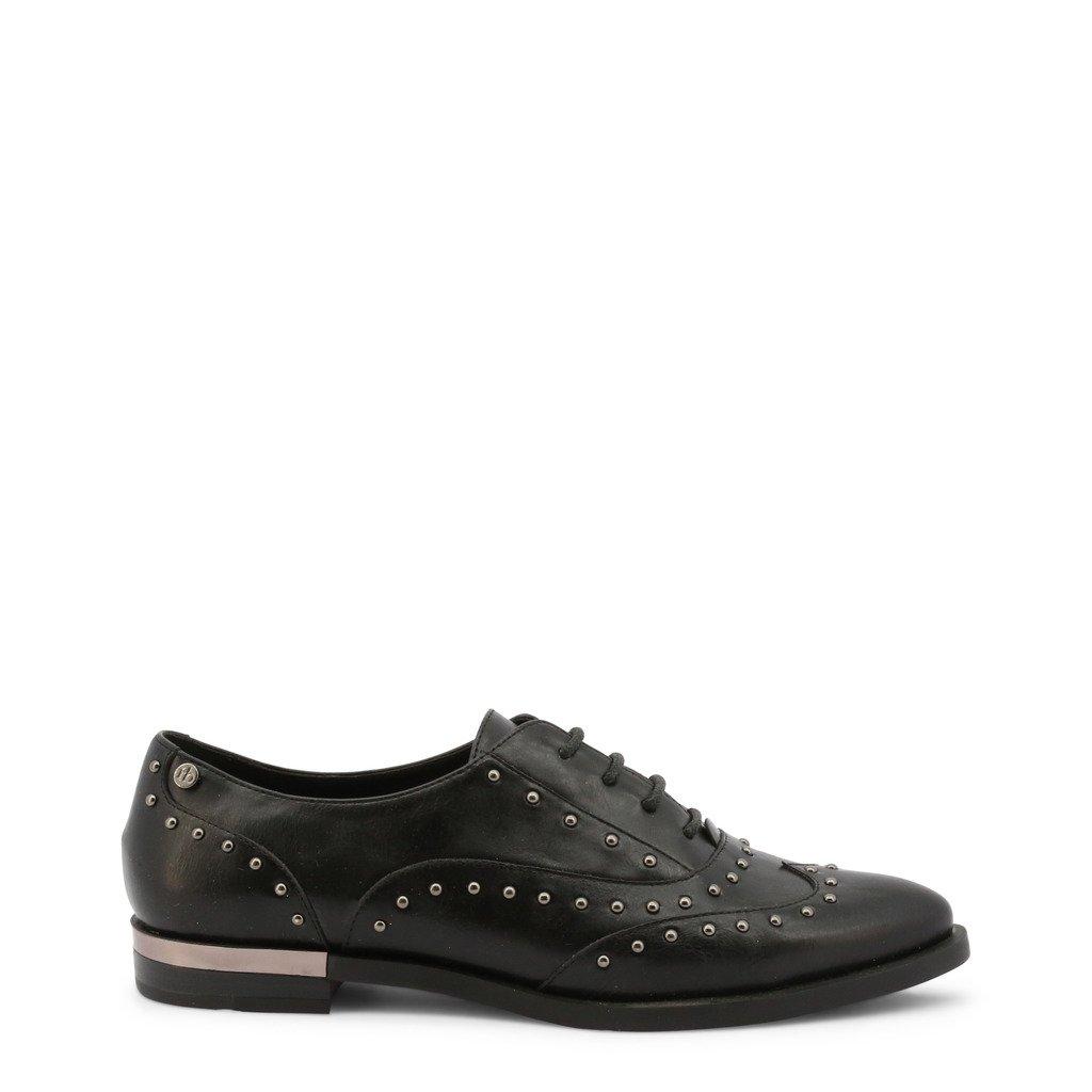 Roccobarocco Women's Lace up Shoe Black RBSC0U101STD - black EU 37
