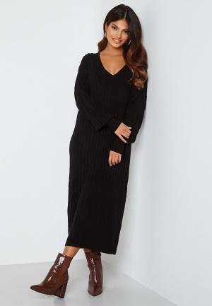 ONLY New Tessa L/S Midi V-Neck Dress Black XS