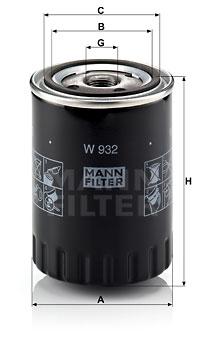 Öljynsuodatin MANN-FILTER W 932