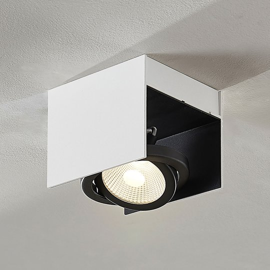 LED Olinka, musta-valkoinen, 1-lamppuinen