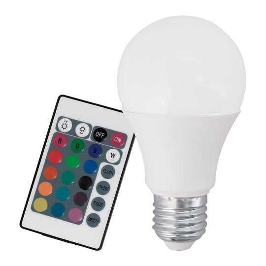 LED-lamppu E27 9W RGB+lämmin valkoinen kaukosäädin