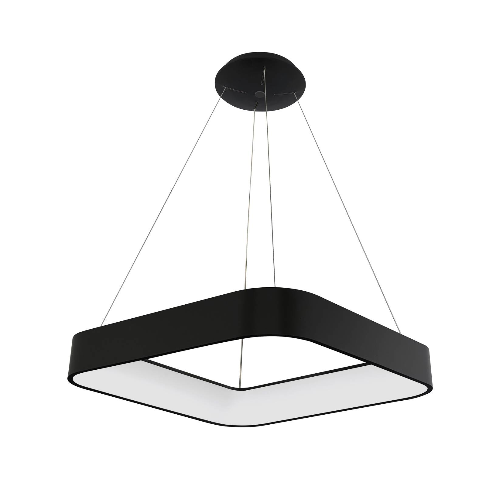 Arcchio Aleksi -LED-riippuvalaisin, 45 cm kulmikas