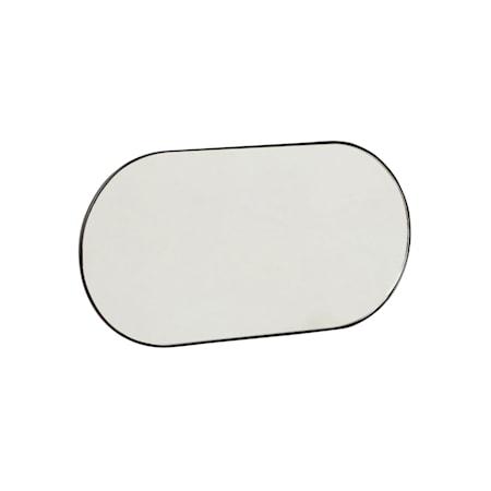 Spegel med 5 krokar Metall Svart