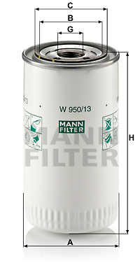 Öljynsuodatin MANN-FILTER W 950/13