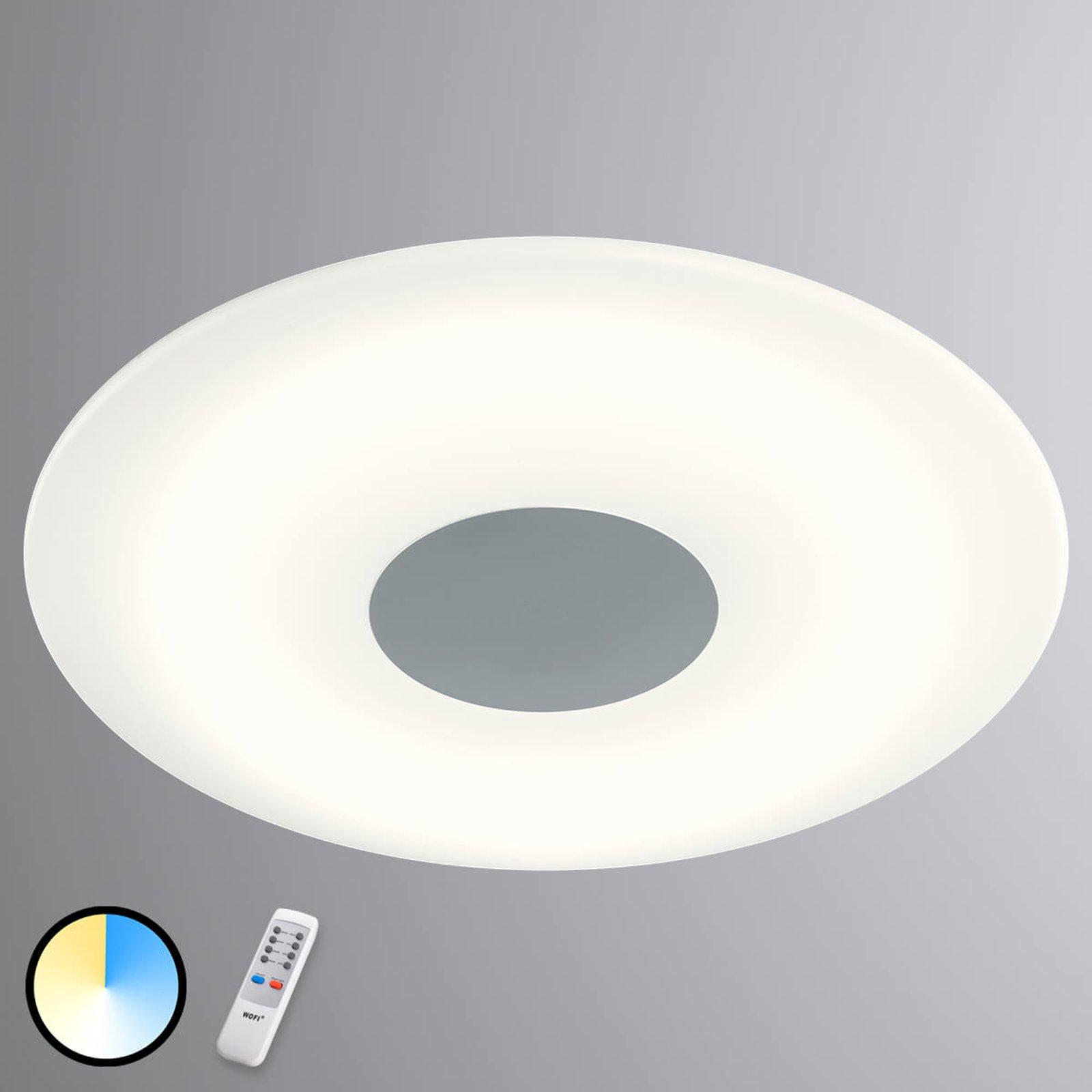 Variabel lysfarge med taklampen Kara med LED-lys