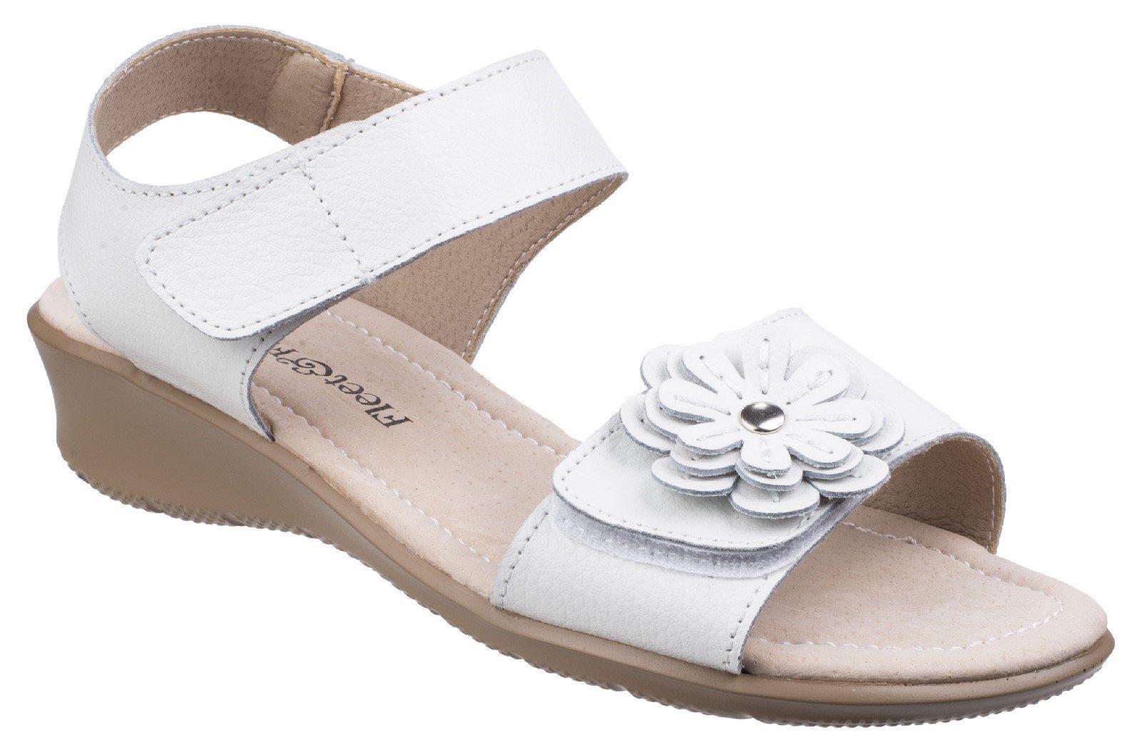 Fleet & Foster Women's Sapphire Touch Sandal Various Colours 26299 - White 3
