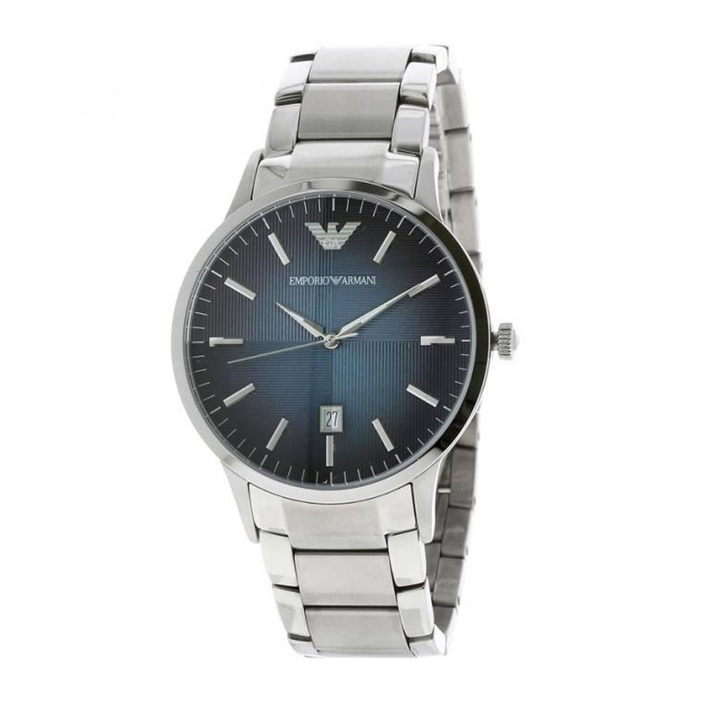 Emporio Armani Men's Renato Round Stainless Steel Watch Silver AR2472