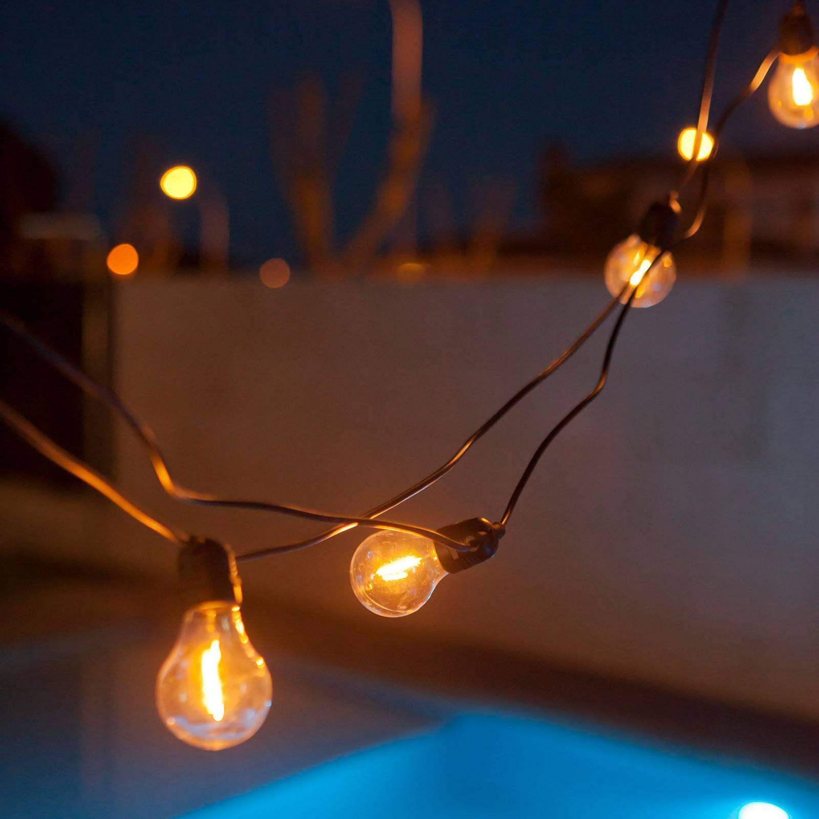 Newgarden Allegra -LED-valoketju RGBW, musta