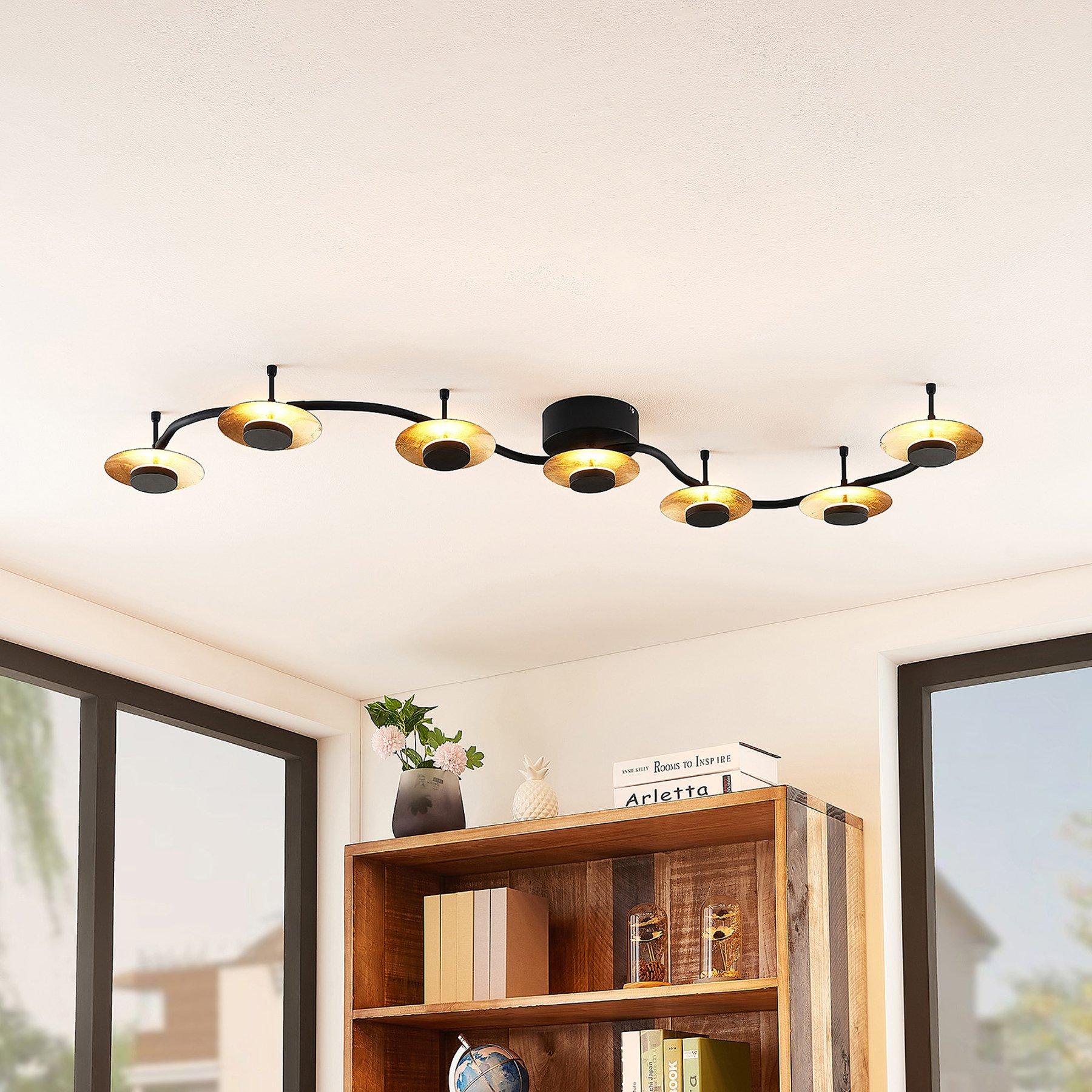 Lindby Graviela LED-vegglampe, 7 lyskilder