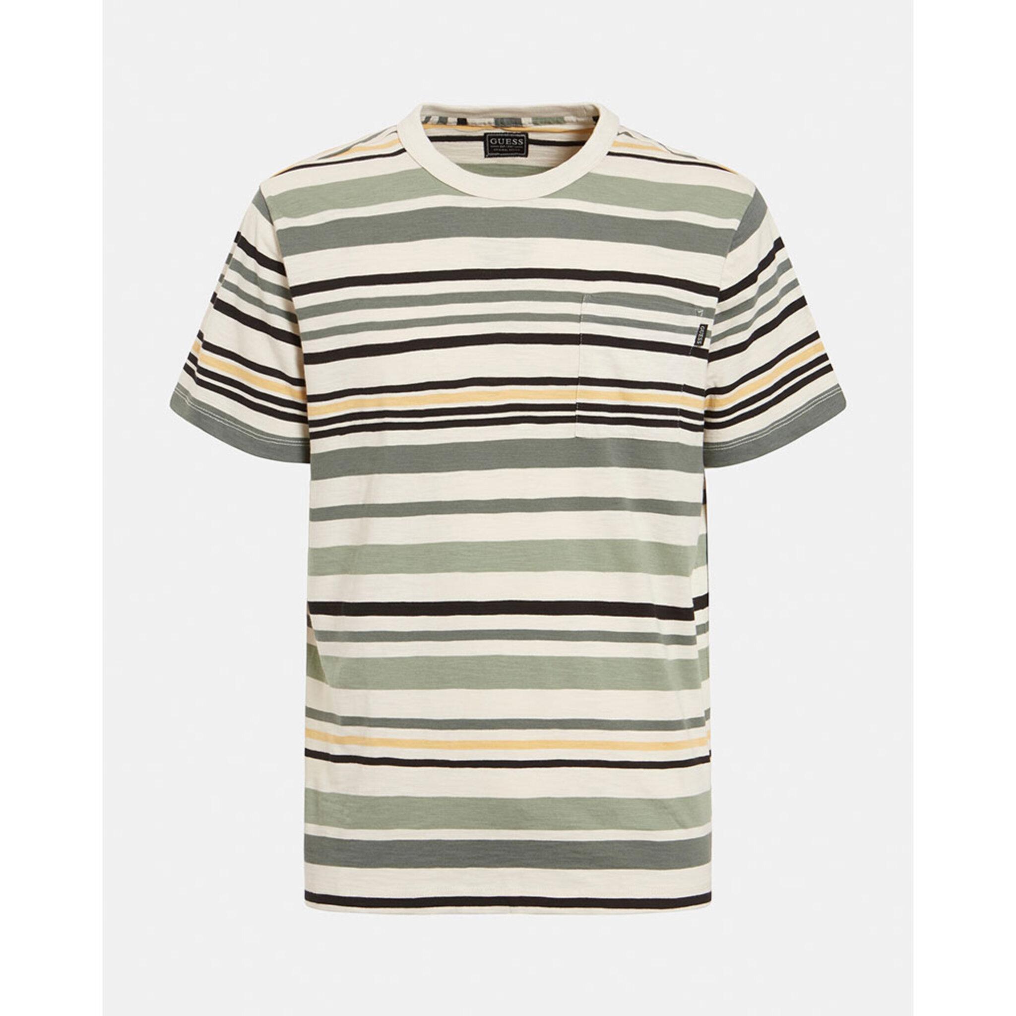 Ss Camp Stripe Pkt Tshirt Short Sleeves