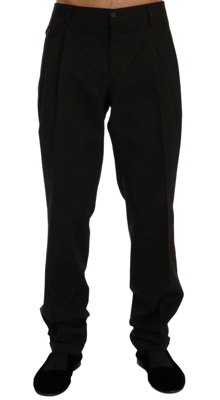 Dolce & Gabbana Men's Striped Cotton Dress Formal Trouser Brown PAN60335 - IT54 | XL