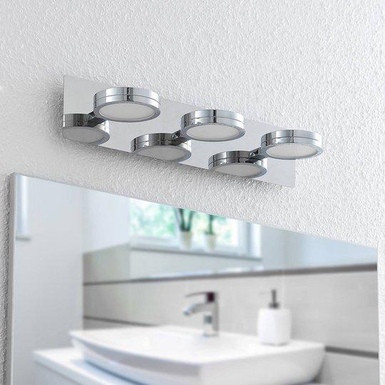 Lindby Skrolla LED-vegglampe til bad, 3 lys