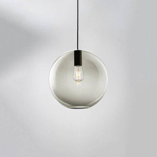 LOUM Loon Ball hengelampe glass grå, svart