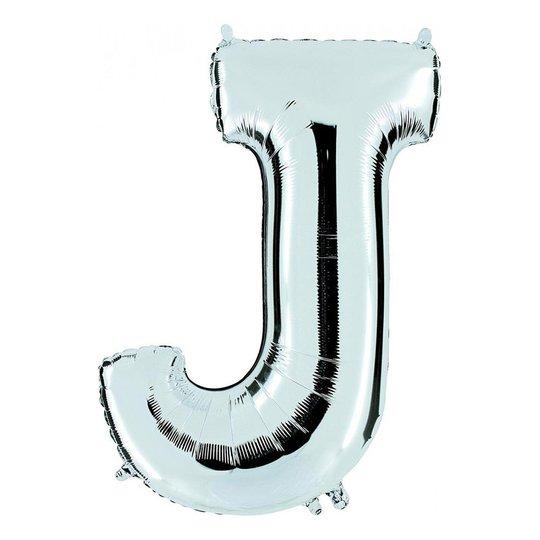 Bokstavsballong Silver - Bokstav J
