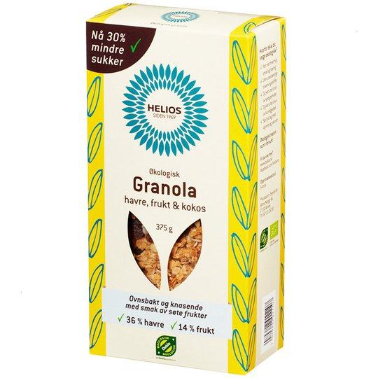 Granola, kaura, hedelmä ja kookos, 375 g - 33% alennus