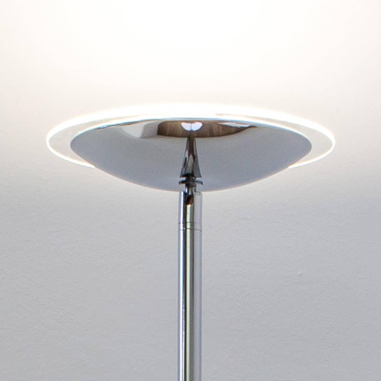 LED-uplight lampe Malea i blank krom.
