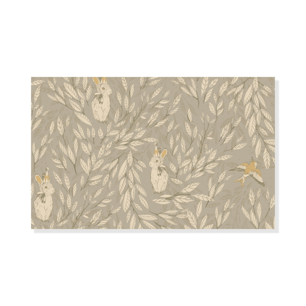 Tapetprov Misty Leaf Fauna Mrs Mighetto