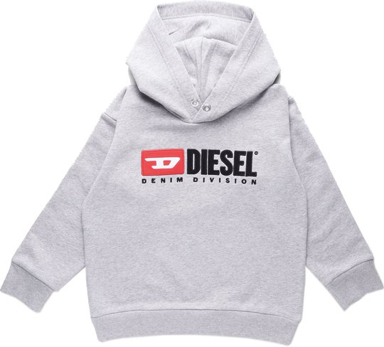 Diesel Sdivision Sweatshirt, Grigio Melange Nuovo 10 År