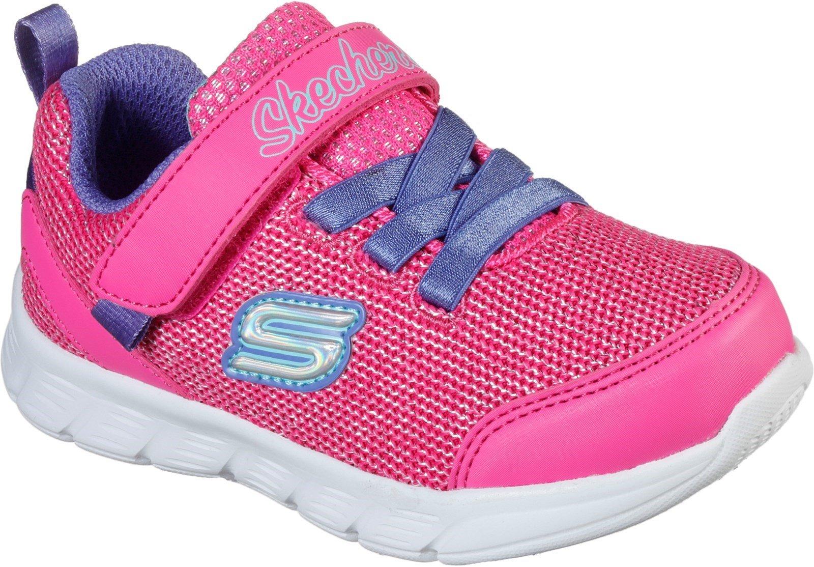 Skechers Kid's Comfy Flex Sports Trainer Various Colours 31139 - Hot Pink/Purple 4