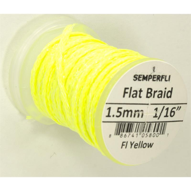 Semperfli Flat Braid 1,5mm Fl. Yellow