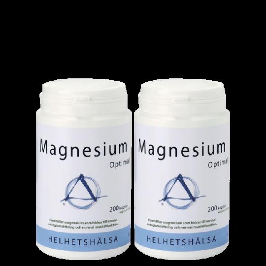 2 x Magnesium Optimal, 200 kapslar