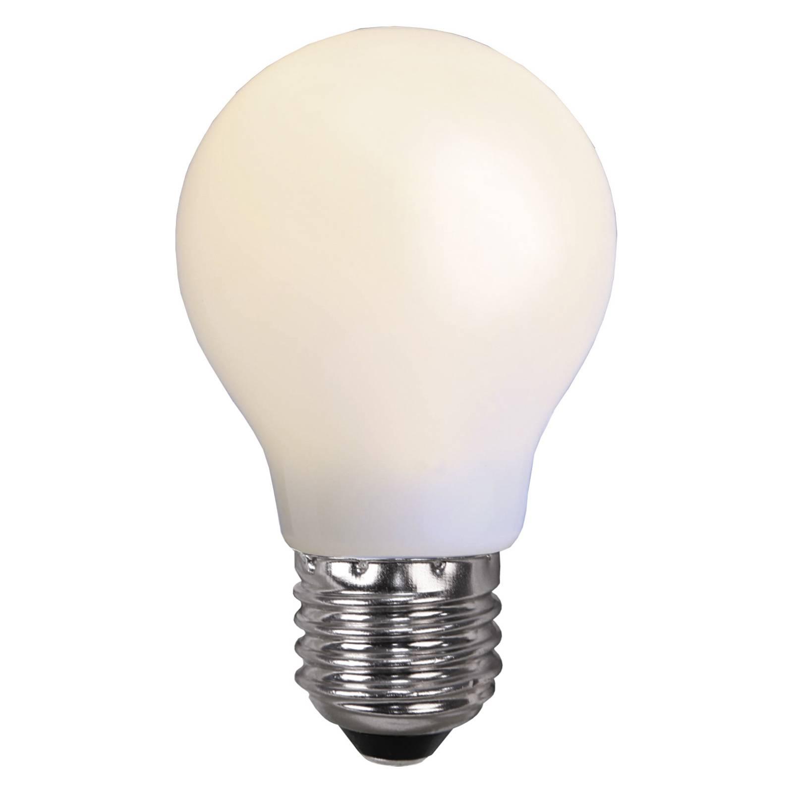 LED-lamppu E27 valoketjuihin, murtumaton valkoinen