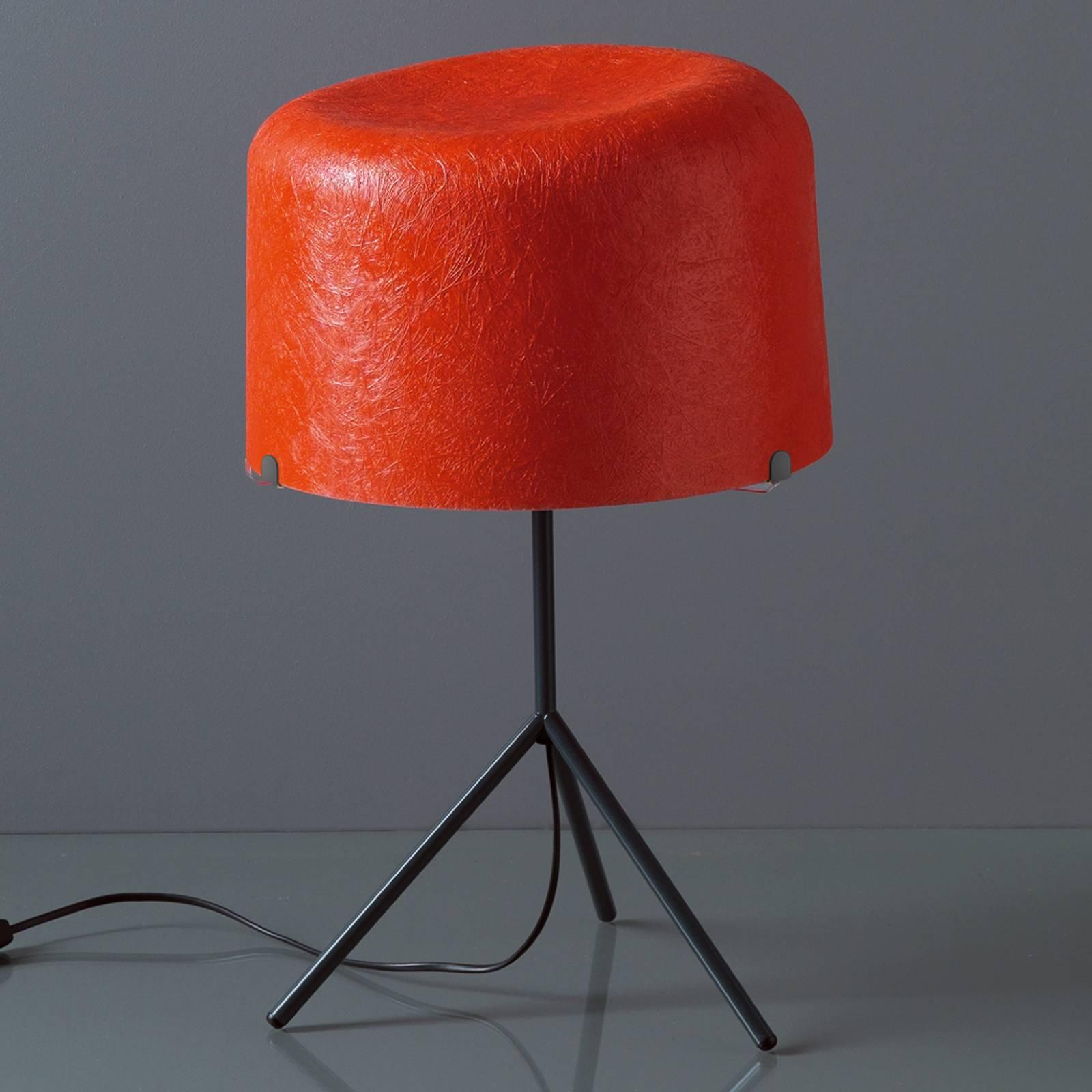 Pöytävalaisin Ola lasikuitua, punainen, K 53 cm