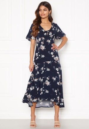 Happy Holly Therese dress Dark blue / Floral 42