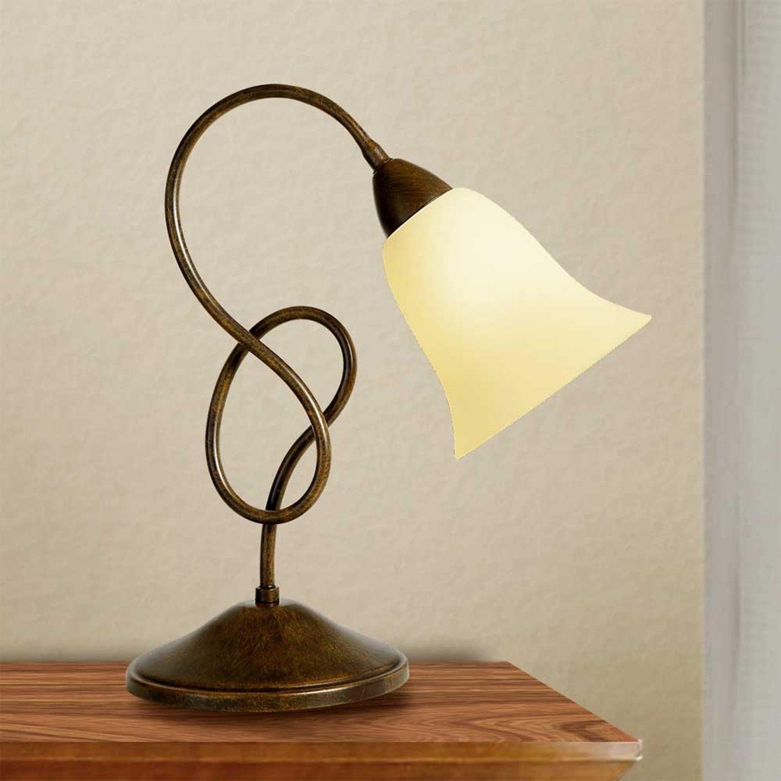 Bordlampe Michele i landstil