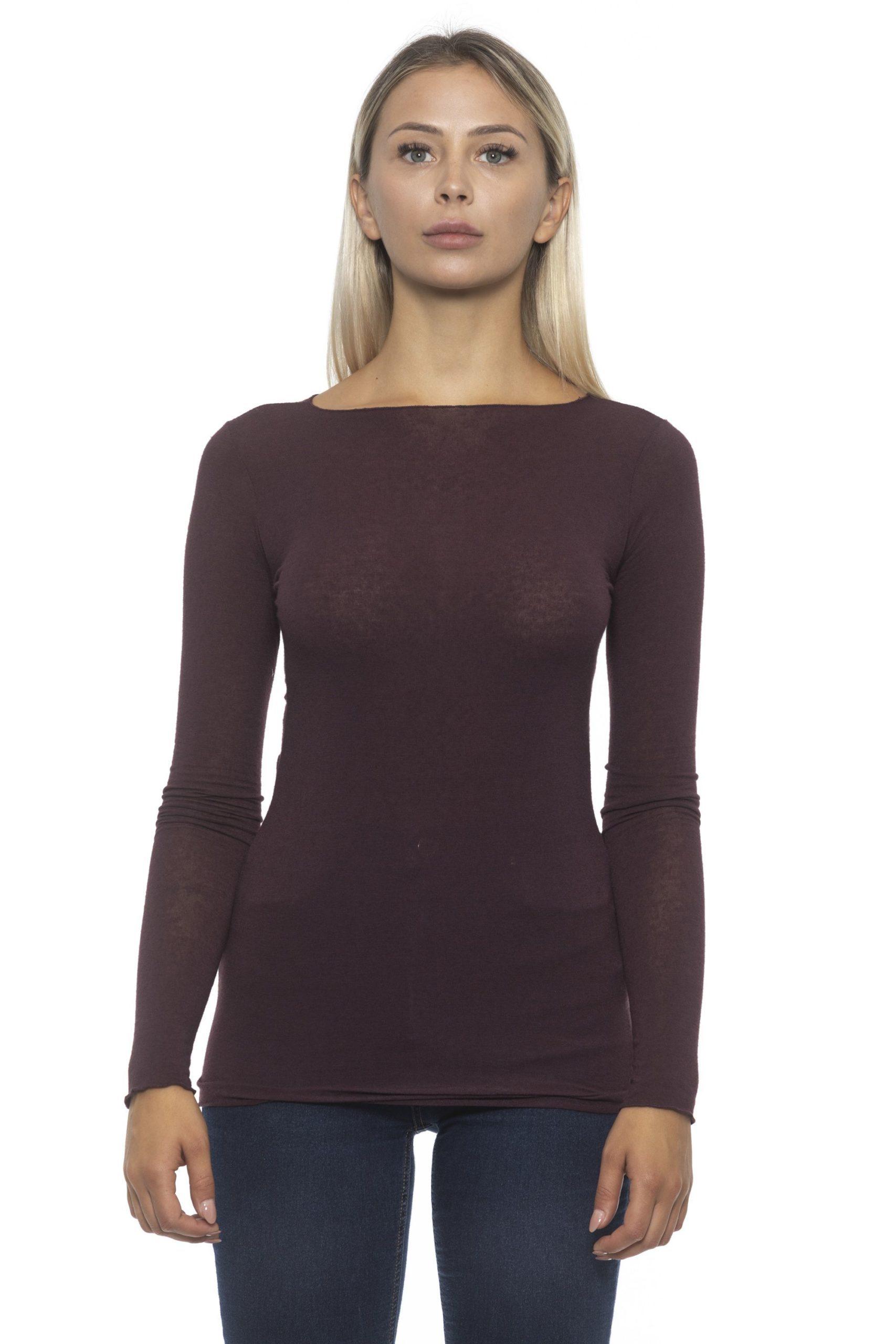 Alpha Studio Women's Mosto Sweater Burgundy AL1192281 - IT40   XS