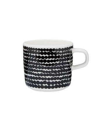 SIIRTOLAPUUTARHA Kaffekopp 20 cl Hvit/Svart/Räsymatto