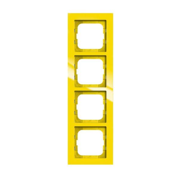 ABB Axcent Yhdistelmäkehys keltainen 4-paikkainen