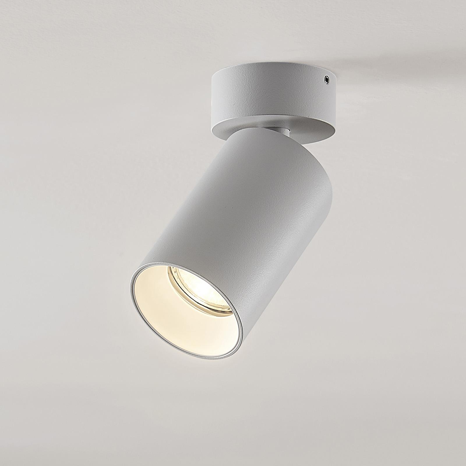 Kohdevalo Brinja GU10 valkoinen 1 lamppu pyöreä