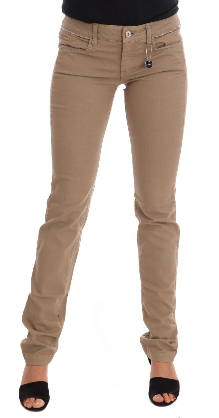 Costume National Women's Cotton Stretch Slim Fit Jeans Beige SIG30130 - W26