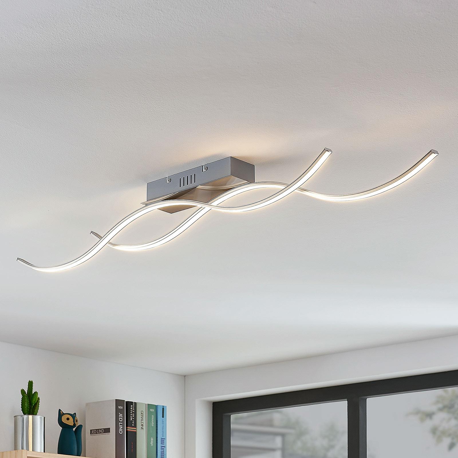 Aaltomainen LED-kattolamppu Safia, 2-lamppuinen