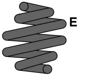Jousi (auton jousitus), Taka-akseli, MITSUBISHI COLT VI, MR 977 617