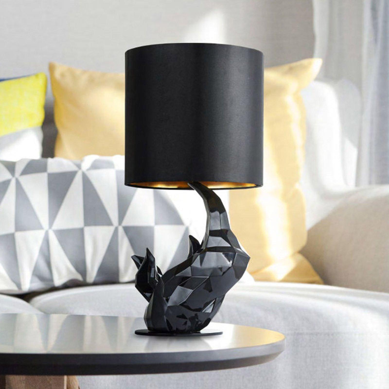 Bordlampe Neshorn svart