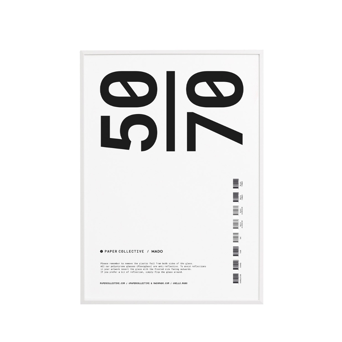 Paper Collective Ram Trä Plexi Vit 50x70 cm