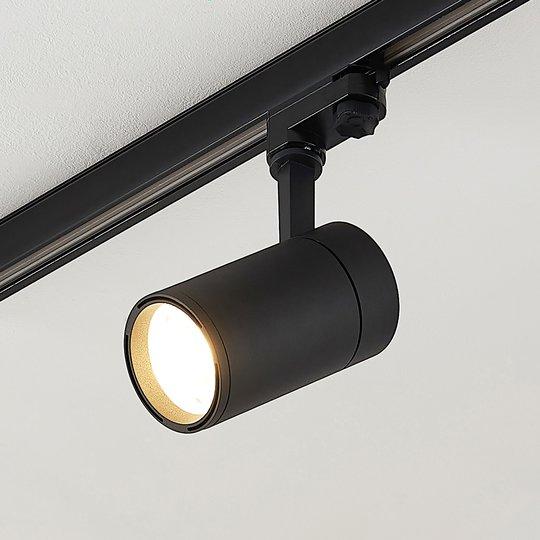 Arcchio Cady LED-kiskovalaisin, musta 15° 22W